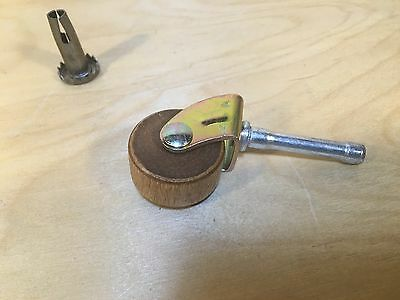 NEW Antique Wood Wheel Roller Caster 1 1/4 inch Restoration Hardware Qty Choice