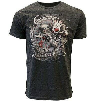 Iron Fist T Shirt Hooked Up Men Charcoal Tee