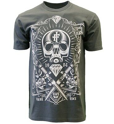 Iron Fist Tshirt Conquered Men Charcoal Heather T Shirt