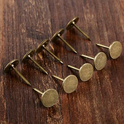 100 x Flat Upholstery Nails Sofa Door Stud Tacks Pins Antique Furniture Hardware