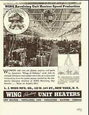 1941 vintage ad for Wing Revolving Industrial Heaters   032812