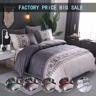 Floral Duvet/Doona/Quilt Covers Set Double Queen King All Size Bed Pillow Cases