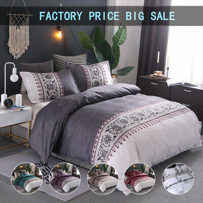 Floral Duvet/Doona/Quilt Covers Set Double Queen King Size Bedding Pillow Cases