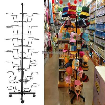Retail 35 Hat Rack Cap Display Rotating Spinner Store Floor Stand Hat Holder