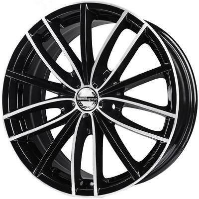 CERCHI IN LEGA TECNOMAGNESIO POWER AUDI A6 8x18 5x112 BLACK MIRROR 8E4