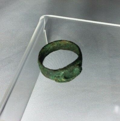 Ancient Roman / Bactrian Bronze Ring 23mm Circa 100 A.D. ** SUPER COOL **