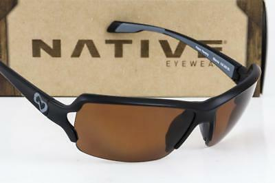 4e179557d85 NEW NATIVE EYEWEAR BLANCA SUNGLASSES Black frame   Brown N3 Polarized lens