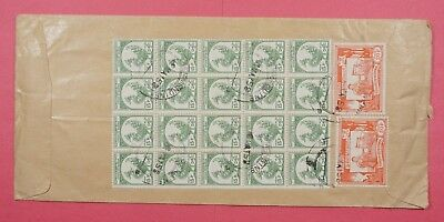 1958 Burma State Service Multi Franked Cover State Timber Board Rangoon To Usa