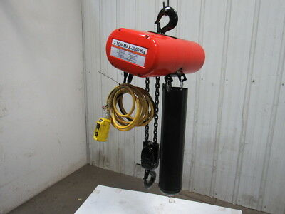 CM Lodestar RR 2 Ton 4000LB 2Hp Electric Chain Hoist 230/460V 3Ph 21' Lift 16FPM