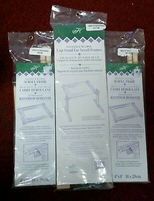 NWT NEEDLEWORK LAP STAND For Scroll Frames In Wood In Original ...