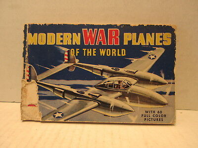 1942 Modern War Planes Of The World 60 Color Pictures Whittman Publishing