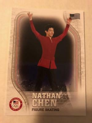 2018 Topps US Winter Olympics US Flagge #US-17 Nathan Chen 08/99 ungebraucht
