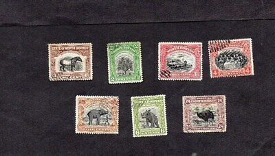 NORTH BORNEO.1909.7x DIFFT PICTORIAL DEFINITIVE STAMPS TO 24c CANCELLED TO ORDER