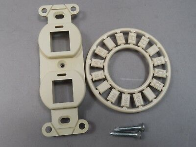Lot of 40 AMP 2 Port Decorator Strap 1116618-1 Standard Keystone Design