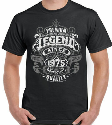 Premium Legend Since 1975 44th Birthday Mens Funny T-Shirt 44 Year Old Top