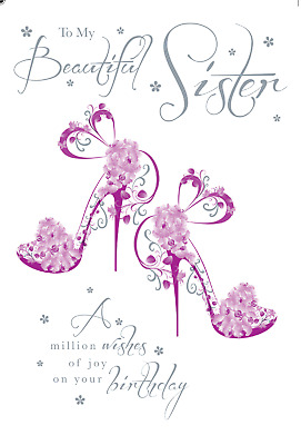 Stunning glitter coated party shoes my beautiful sister birthday stunning glitter coated party shoes my beautiful sister birthday greeting card m4hsunfo