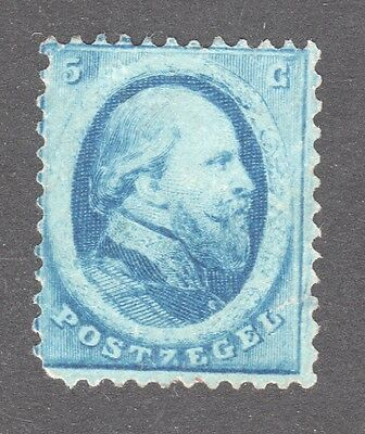NETHERLANDS STAMP #4   — 5c BLUE - 1864 -  UNUSED