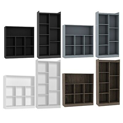 Tall Wide Wooden 7 Cube Bookcase Shelving Display Storage Unit Cabinet Shelves