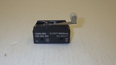 Kissling D-7277 Switch 15A 250Vac Ps1 941 301 Roller Limit Switch