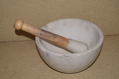 """Coors Large 10"""" Mortar & Pestle - Apothecary- Pharmacy - Drug (#1)"""