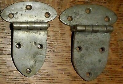 "Antique Door Hinge Set of 2 Gate Icebox Ice Box Refrigerator 2-3/4"" 45 9/16"