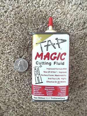 Tap Magic Cutting Tapping Fluid 4 Oz Can 90% Full Made In Usa