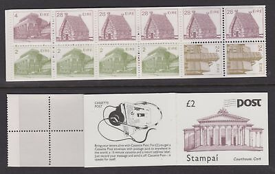 IRELAND 1988 MNH £2 Stamp Booklet Courthouse, Cork - Architecture - (184j)