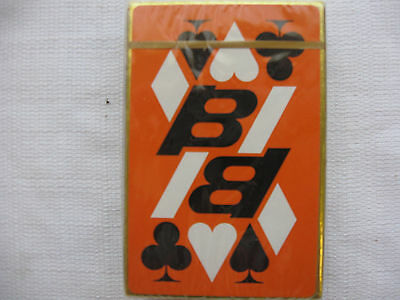 Braniff International Airways 1950's SEALED Bridge Playing Cards Orange