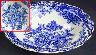 Crown Ducal BRISTOL BLUE Rimmed Fruit Dessert (Sauce) Bowl 91500