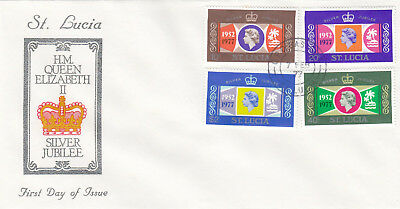 (13275) FDC St Lucia Queen Silver Jubilee 7 February 1977