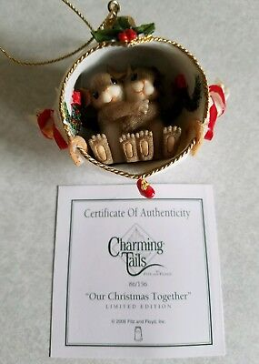 Charming Tails OUR CHRISTMAS TOGETHER Ltd Ed Ornament 2006 Fitz Floyd