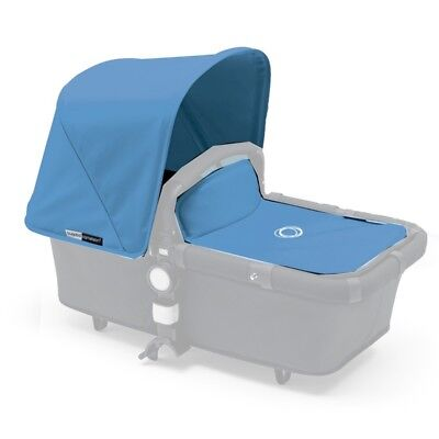 Bugaboo Cameleon tailored fabric set Ice Blue extendable sun canopy and bassinet