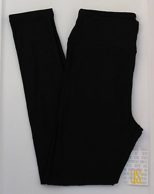 OS LuLaRoe One Size Leggings Solid Black - Unicorn - NWT