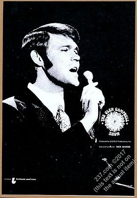 1971 Glen Campbell photo The Glen Campbell Show music trade print ad