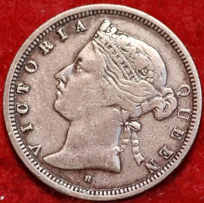 1873 Hong Kong 20 Cents Silver Foreign Coin