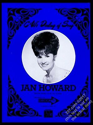 1968 Jan Howard photo music trade gig booking ad