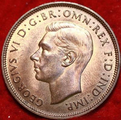 Uncirculated 1948 Great Britain Penny Foreign Coin