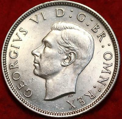 Uncirculated 1942 Great Britain Two Shillings Silver Foreign Coin