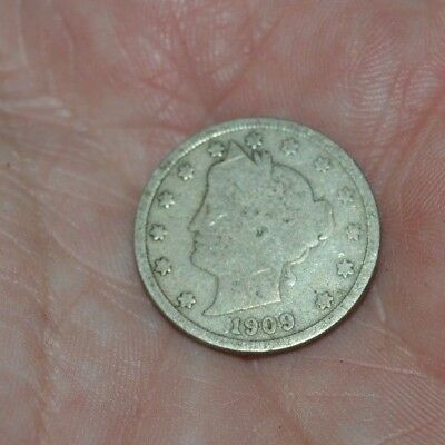 Vintage 1909 - V United States of America USA Coin Liberty Nickel Rare