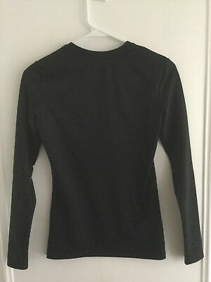 Youth Champion Duo Dry Power Core Long Slv Base Layer Compression Shirt S Small