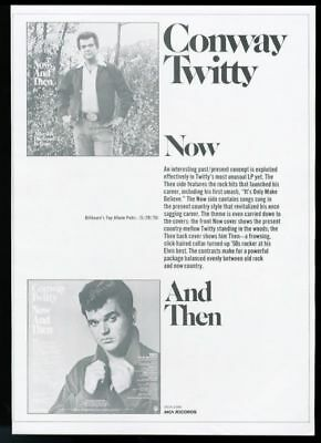1976 Conway Twitty photo Now and Then album MCA trade print ad