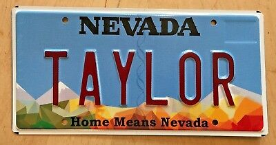 """Nevada Means Home Vanity License Plate """" Taylor """" Swift Meat Packing Nv"""