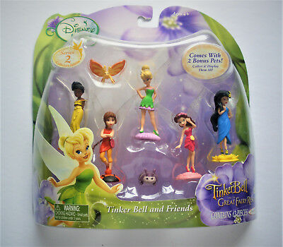 """2010 DISNEY Tinker Bell Fairies SERIES 2 Playset Great Fairy Rescue 2"""" NEW NRFP"""