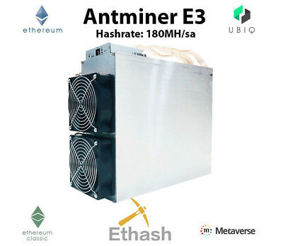 NEW! AntMiner E3 Ethereum Mining Rig 180MHs 800w most powerful/economical (ASIC)