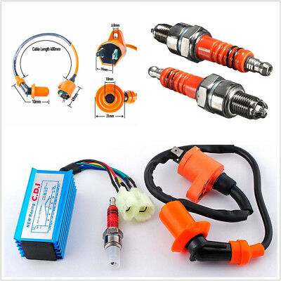 Motorcycles ATV Scooter Racing Ignition AC 6-Pin Coil CDI Box Spark Plug For Gy6