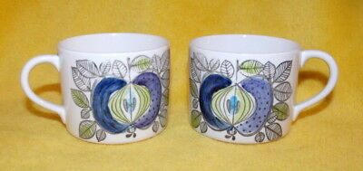 Rorstrand - Eden - 2 Orphan Coffee Cups - 1 Is A/f - 1960 ~ 1972