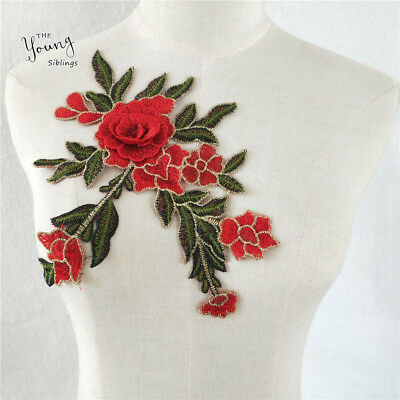 Lace Floral Embroidered Venise Neckline Collar Trim Sewing Applique YL605