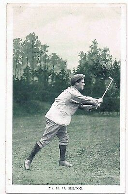 "GOLF - MR. H.H. HILTON,""IN THE OPEN"" ""CHAMPION GOLFERS"" TUCK SERIES 6453, c1908"