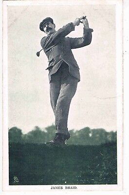 "GOLF - JAMES BRAID,""IN THE OPEN"" ""CHAMPION GOLFERS"" TUCK SERIES 6453, c1908"