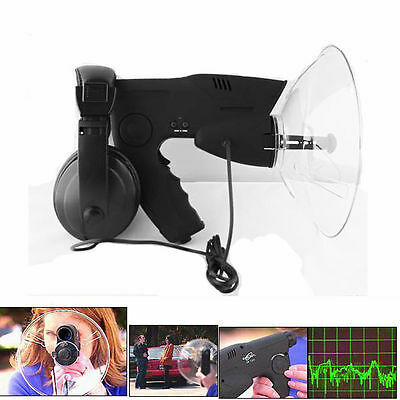 Parabolic Microphone Spy Listening Device Bionic Ear Sound Amplifier UP TO 300m